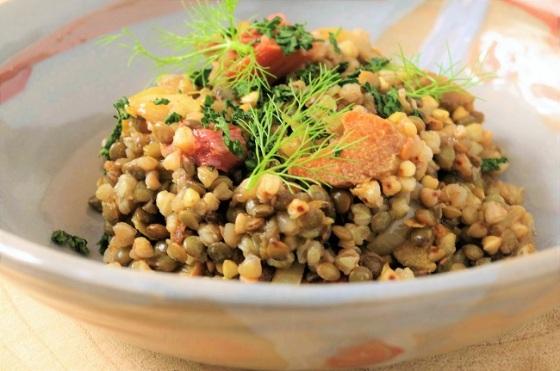 Rhubarbe salée - lentilles - sarrasin - Paimpol - Cours de cuisine - Bretagne - Côtes d'Armor - Traiteur - C Très Bio -