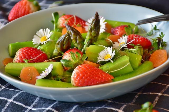 salade fraises asperges bio local paimpol Côtes d'Armor