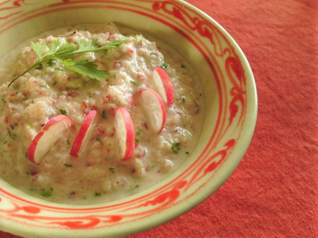 Tzaziki de radis roses - apéro à Paimpol