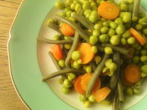 légumes bio vapeur sauce vinaigrette