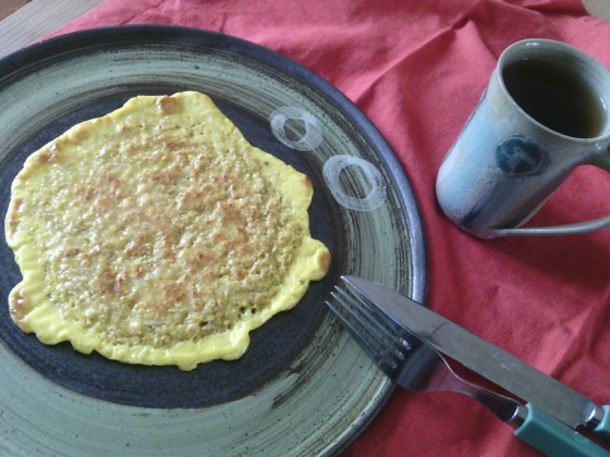 petit-déjeuner-galette aux flocons d'avoine