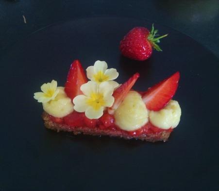 tarte au fraise revisitée- cours de cuisine C Très Bio - paimpol- Côtes d'armor- Bretagne