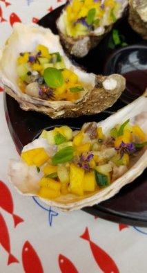 tartare huitres mangue