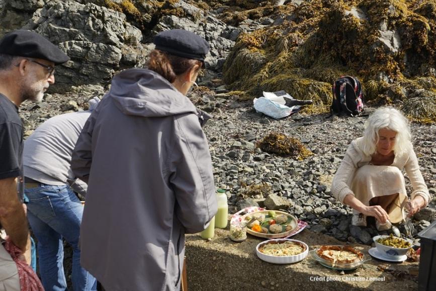Picnic-bio-Paimpol-Côtes d'Armor-Bretagne-cours de cuisine-atelier cuisine-bord de mer-vegetarien-vegan-abbaye de beauport