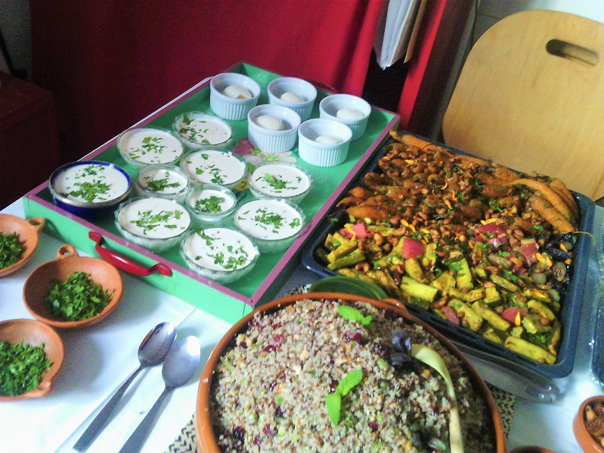 buffet légumes et taboulé