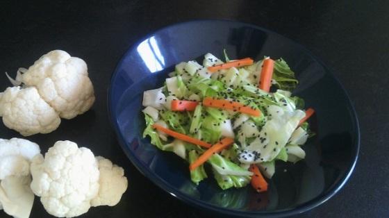 Cours de cuisine - antigaspi- chou fleur- Bio - Bretagne-Côtes d'Armor - Paimpol - Wok - Recette express - Recettes faciles