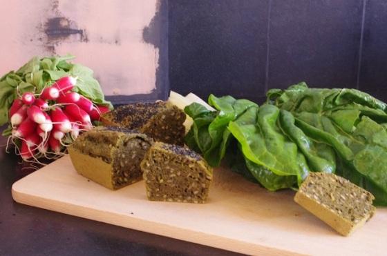 Cake salé- antigaspi - Cours de cuisine - Bretagne- Paimpol - Côtes d'Armor - Bord de mer - dîner - blettes - radis - C très Bio - végétarien -
