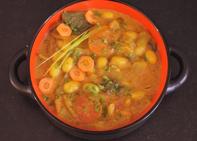 curry de poireaux aux cocos de paimpol zoom2