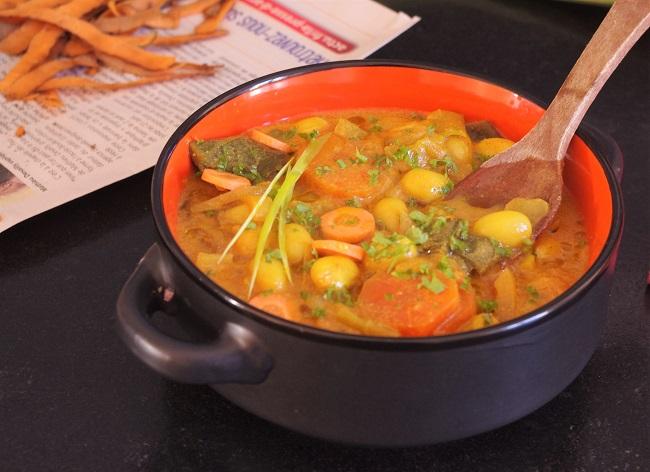 curry de poireaux aux cocos de paimpol