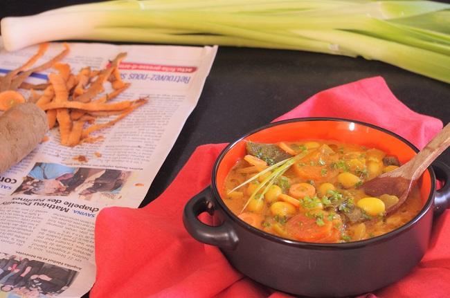 curry - poireau - carotte - cuisine indienne - Bretagne-Côtes d'Armor - Paimpol - Bio - vegan - végétarien - Bord de mer- pas cher - recette -cocos de Paimpol