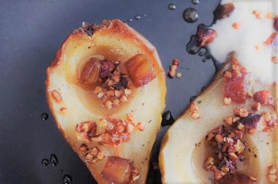 Poire cardamome sarrasin-cours de cuisine - Bretagne-Côtes d'Armor - Paimpol - Bio - vegan - végétarien - Bord de mer