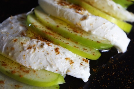 Mozarella - pomme - Paimpol - Cours de cuisine - Bretagne - Côtes d'Armor - Traiteur - C Très Bio - Traiteur - végétarien -