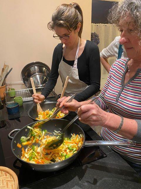 cuisson wok julie et annick