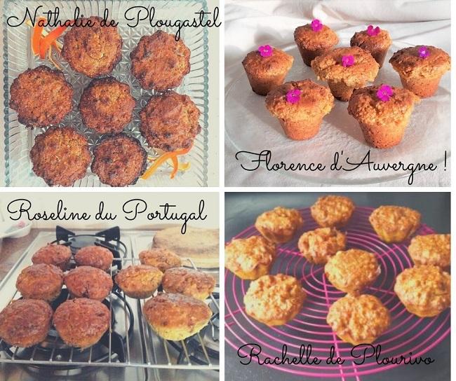 muffin sans farine - bio - goûter - gâteau - cours de cuisine - recette - Bretagne - Côtes d'armor - Paimpol - Vegan -